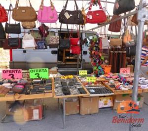 bargins at cisne market rastro market in benidorm