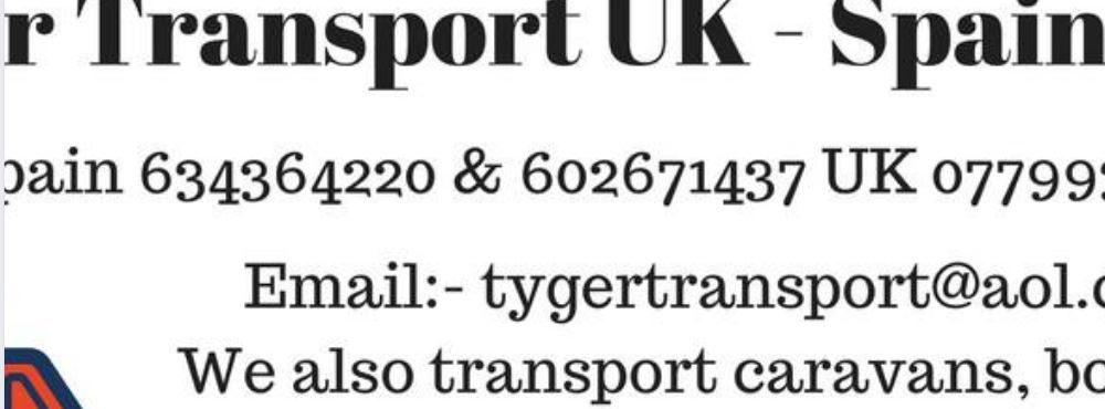 Tyger Transport UK - Spain